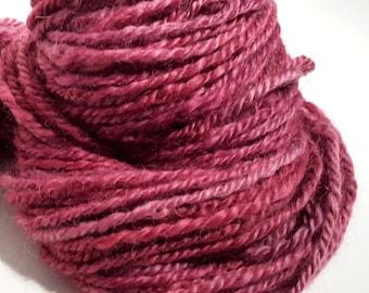 Ruby Tuesday RockStar Handspun Yarn - 63 yds - Wensleydale wool, N-Plied