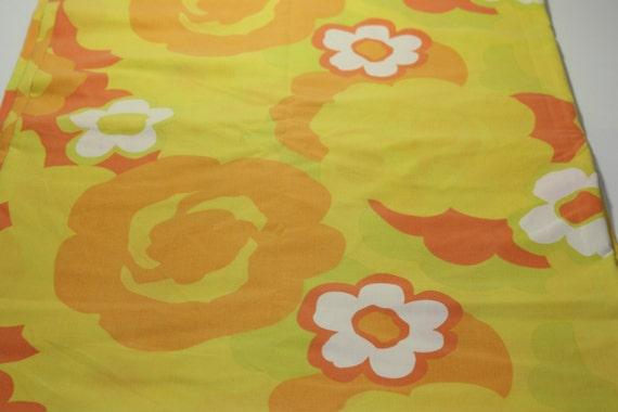 Orange Flat Sheet Twin Vintage Twin Flat Sheet