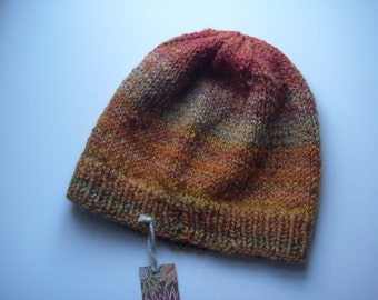 Chunky Handspun Handknit Hat
