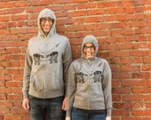 AT-AT Love ZipUp Hoodie - Unisex, Funny Shirts, Star Wars Hoodie, Star Wars Valentine, Star Wars Parody, Funny AtAt Hoodie
