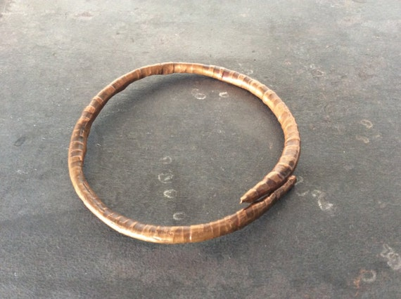 Textured Twiggy Copper Bangle Bracelet - made to order