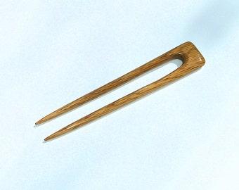 Hair Fork (Hand Carved Red Oak)
