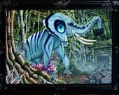 RW2 Original Smithsonian Elephant Painting by Robert Walker