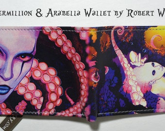 RW2 Octopus Squid Mermaid Leather Art Wallet Handmade by Robert Walker