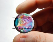25mm 20mm 16mm 12mm 10mm or 8mm Glass Cabochon - Marble Design 2  - for Jewelry and Pendant Making