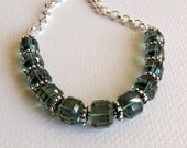 Moss Green Aquamarine Necklace with Sterling Silver, Handmade Necklace, Statteam