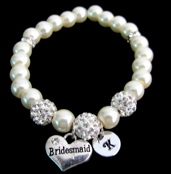 Wedding Gift Delivery Usa : ... gift, Initial bracelet,wedding gift Paveball bracele Free shipping USA