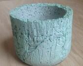 Concrete Pot - Plastic Bag Texture