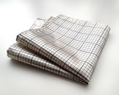 Graph paper pocket square. Silkscreened grid paper hanky. Your choice of platinum ivory & more! Architect, enginer, designer gift.