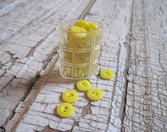 vintage buttons sunshine yellow set of 25