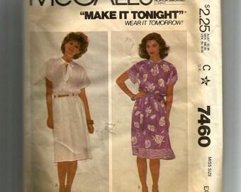 McCall's Misses'  Dress Pattern 7460