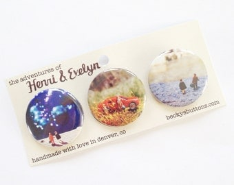 The Adventures of Henri & Evelyn Button Pack - Colorado Excursion