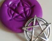 Pentagram Silicone Mold Mould Wiccan Polymer Clay Sugarpaste New Age Fimo Resin Icing Cake Decorating