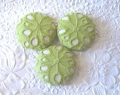 Green buttons, eyelet buttons, fabric buttons, covered buttons, textured buttons, 1.5 inch button, size 60 buttons, price per button