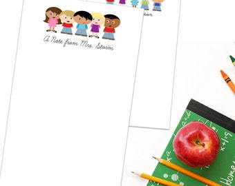 """Personalized Teacher Notepad - Custom Teacher Gift - """"A Note From..."""" Note Pad"""