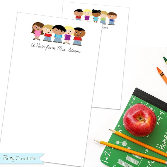 Personalized Teacher Notepad with 100 pages by BitsyCreations Teacher Gift