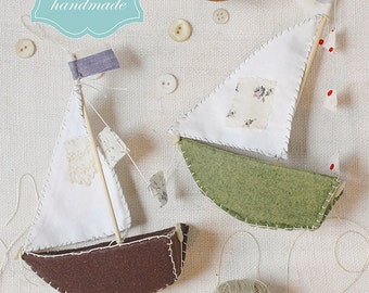 little felt boats : a sewing pattern