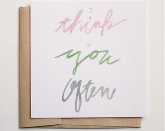 Blank Greeting Card / Notecard / Thinking of You