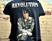 John Lennon Revolution  Vest . Unisex . One Size . up to Women's XL . Men's Medium . Junior XL . Guitar . Music . Recycled Clothing