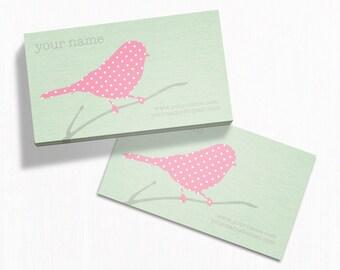 Business Cards  Custom Business Cards  Personalized Business Cards  Business Card Template  Modern Business Cards  Bird Business Card B2