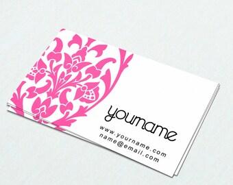 Business Cards  Custom Business Cards  Personalized Business Cards  Business Card Template  Modern Business Cards  Damask Business Card M3