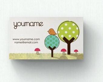 Business Cards  Custom Business Cards  Personalized Business Cards  Business Card Template  Modern Business Cards  Bird Business Card  B8
