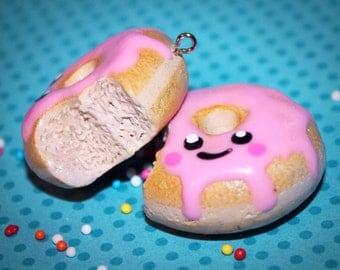 super cute kawaii donut necklace