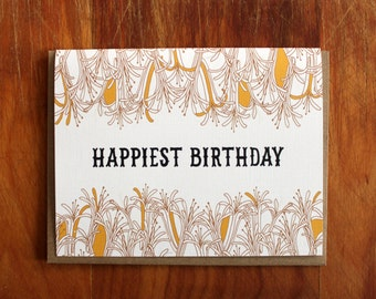 happiest birthday-single folded card