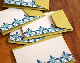 Petal Print Enclosure Cards