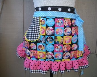 Aprons - Pink Barbie Aprons - Mattel Barbie and Ken Aprons - Annies Attic Aprons - Barbie Fabric Aprons - Etsy Aprons - Monogrammed Aprons