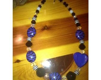 Girl's Royal Blue Chunky Necklace