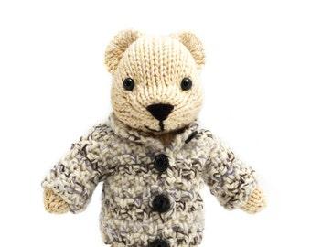 Polar Bear with Jacket Knitting Pattern