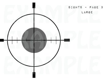 PDF: Printable Target Sights for SWAT Party - Digital File DIY - Orange Grey Black