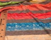 Rayon Jersey  Knit  1 Yard Multi-Color Stripes
