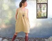 Organic Linen Backyard Dress