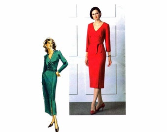 Misses Semi Fitted Dress Belt Vogue 8111 Sewing Pattern Size 6 - 8 - 10 Bust 30 1/2 - 31 1/2 - 32 1/2 UNCUT
