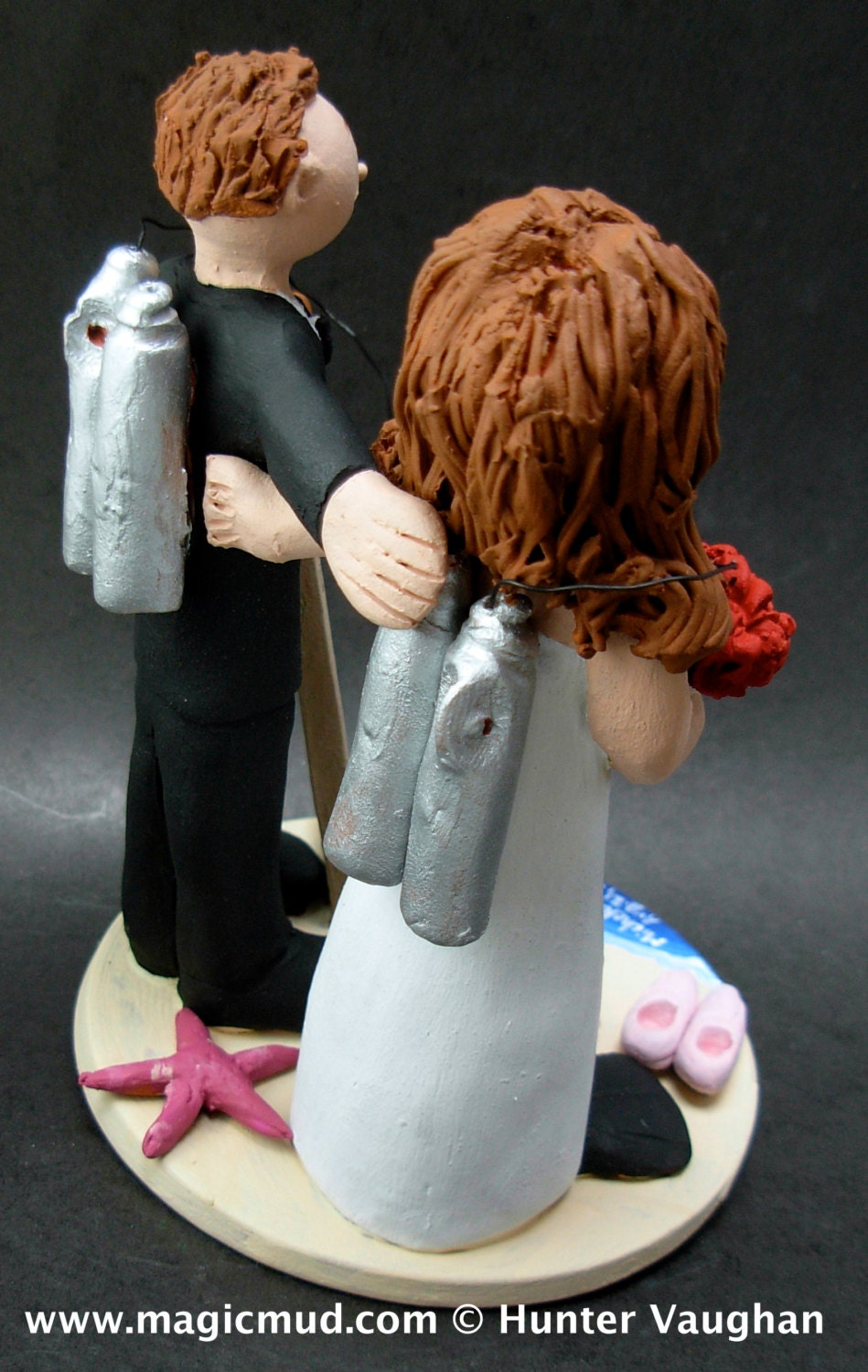 Scuba Diving Bride And Groom Cake Topper Gallery Photo