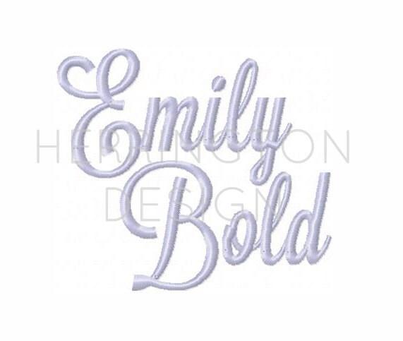 bold embroidery font 1 5 u0026quot  inch emily satin stitch font lavanderia interlocking instant download