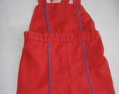Toddler Boy Red Shortalls, Size 18 Months