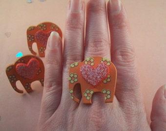 Elephant Heart Ring