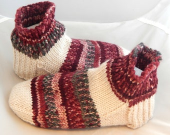 Men Knitted Sock Slippers in US Size 8 to 9