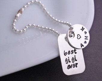 Best Gigi Ever Purse Charm, Gift for Gigi, Sterling Silver Purse Charm