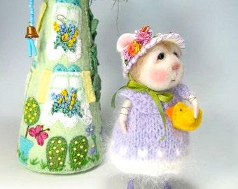 Needle Felting Tutorial / Felt Animals / Felted Animals / Needle Felted Mouse & Bunny / Needle Felting / Wool Roving / Wool Fleece Doll