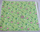 Frogs and Lilly Pads Cotton Fabric - Destash