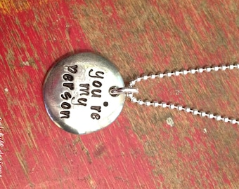 you're my person stamped necklace-you are my person stamped necklace-grey's anatomy inspired