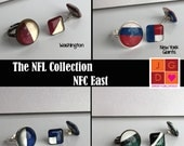 NFL Collection earrings and rings - NFC East Cowboys, Giants, Eagles, Washington