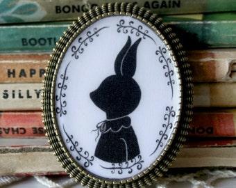 Rabbit Silhouette Brooch