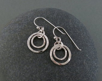 Handmade Sterling Silver Circle Earrings