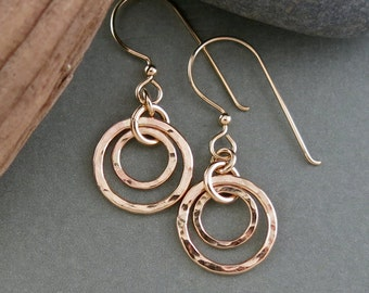 Handmade Gold Filled Circles Earrings