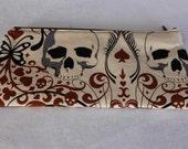 Pencil Case Cosmetic Bag Gadget Case Zipper Pouch Skulls Butterfly Cards